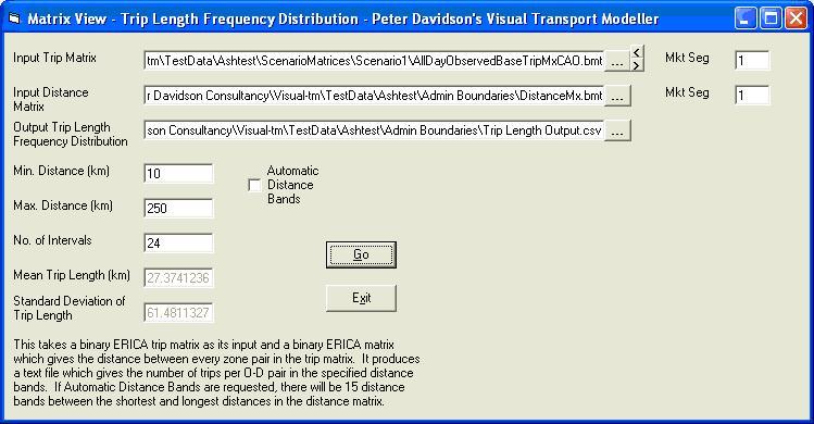 Trip Length Distribution form
